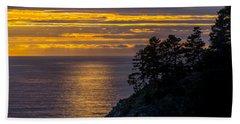 Sunset On The Edge Beach Sheet