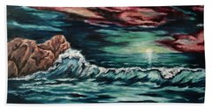 Sunset On The Horizon Beach Towel