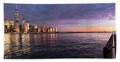 Sunset On The Hudson River Beach Sheet