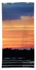 Sunset On The Marsh Beach Sheet