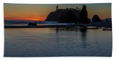 Sunset On The Oregon Coast Beach Sheet