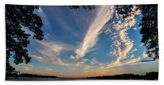 Sunset On The Pamlico Beach Towel