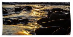 Beach Towel featuring the photograph Sunset On The Rocks by Randy Bayne