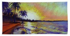 Sunset On The Sea Beach Towel