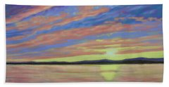 Sunset On The South Shore  Beach Towel