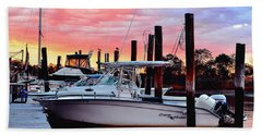 Sunset On The Water Beach Towel
