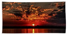 Sunset On The Zambezi Beach Towel