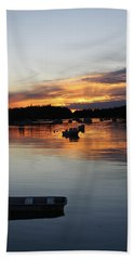 Sunset On Vinalhaven Maine Beach Towel