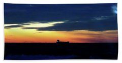 Sunset On Winter Solstice Eve Beach Sheet