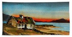 F 707 Inishfree Bay Near Ardra, Donegal.. Beach Towel