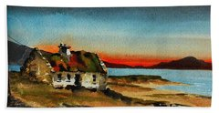 F 707 Inishfree Bay Near Ardra, Donegal.. Beach Towel