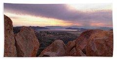 Sunset Over Diamond Valley Lake Beach Sheet