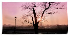 Beach Towel featuring the photograph Sunset Over Krakow by Juli Scalzi