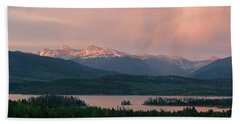 Beach Towel featuring the photograph Sunset Over Lake Dillon by Aaron Spong