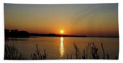 Sunset Over Lake Norman Beach Sheet