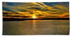 Sunset Over Lake Palestine Beach Towel
