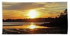 Sunset Over Lynch Park Beverly Ma Beach Sheet