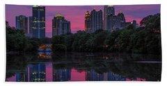 Sunset Over Midtown Beach Towel