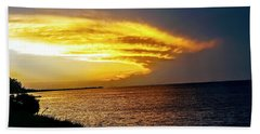 Sunset Over Mobile Bay Beach Towel