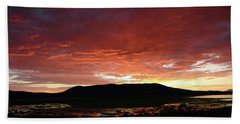Beach Sheet featuring the painting Sunset Over Mormon Lake by Dennis Ciscel