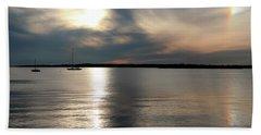Sunset Over Narragansett Beach Towel