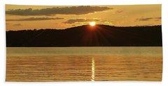 Sunset Over Piermont Beach Towel
