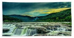 Sunset Over Sandstone Falls Beach Towel
