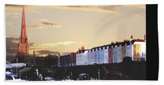 Beach Sheet featuring the photograph Sunset Over St Mary Redcliffe Bristol by Terri Waters