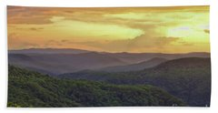 Beach Sheet featuring the photograph Sunset Over The Bluestone Gorge - Pipestem State Park by Kerri Farley