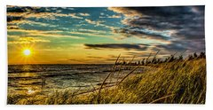Sunset Over The Great Lake Beach Towel
