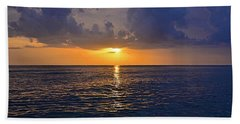 Sunset Over The Gulf Of Mexico Beach Towel