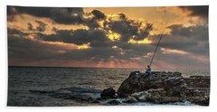 Sunset Over The Mediterranean 1 Beach Towel