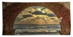 Sunset Over The Mediterranean 4 Beach Towel