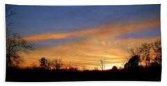 Sunset Over The Sabine 02 Beach Sheet
