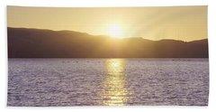 Sunset Over The Straits Beach Towel