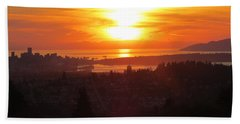 Sunset Over Vancouver Beach Towel
