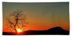 Beach Towel featuring the photograph Sunset Over Virginia by Darren Fisher