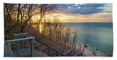 Sunset Overlooking Long Island Sound Beach Towel