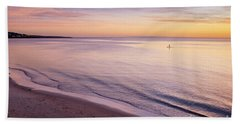 Beach Towel featuring the photograph Sunset Paddle by Ray Warren