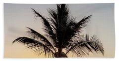 Beach Sheet featuring the photograph Sunset Palm by Az Jackson