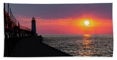 Sunset Panorama Beach Towel