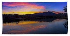 Sunset Panorama Of Mt. Tam And Richardson Bay Beach Towel