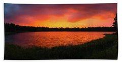 Sunset Panorama Beach Towel by Teemu Tretjakov