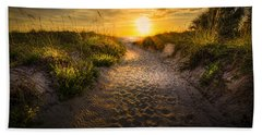 Sunset Path Beach Towel