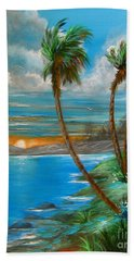 Beach Sheet featuring the painting Sunset by Patrice Torrillo