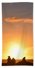 Sunset People In Imperial Beach Beach Towel