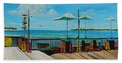 Sunset Pier Tiki Bar - Key West Florida Beach Towel by Lloyd Dobson