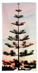Sunset Pine Beach Towel by Russell Keating