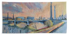 Sunset Pont Fragnee Beach Towel