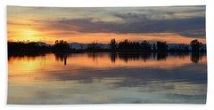 Sunset Reflections Beach Towel by AJ Schibig